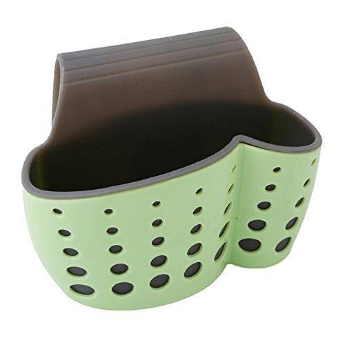 Gold Happy Kitchen Baskets Suction Cup Sink Shelf Soap Sponge Drain Rack Kitchen Sucker Type Storage Organizer Storage Basket Laundry Bag