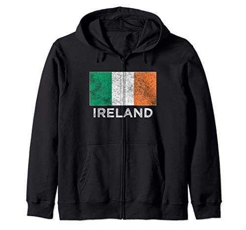 Irish National flag vintage gift  Zip Hoodie