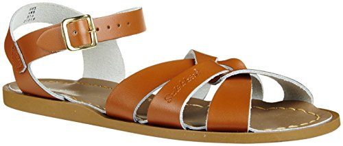 (Salt Water Sandals by Hoy Shoe Original Sandal (Toddler/Little Kid/Big Kid/Women's), Tan, 5 M US Big Kid)