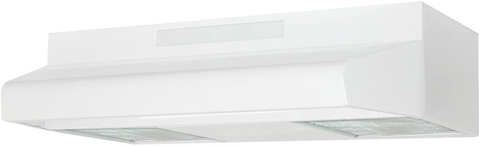 Air King ES303ADA ADA-Compliant Energy Star Qualified Under Cabinet Range Hood with 2-Speed Blower, 270-CFM, 4.0-Sones, 30-Inch Wide, White Finish