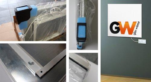 glaswaermt infrarotheizung infrarot  watt metall premium