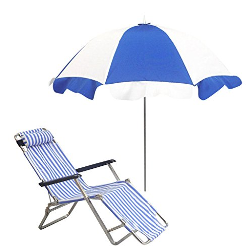 MonkeyJack 1/6 Folding Beach Chair + Tilting Beach Parasol for ZY Toys For 12'' Action Figures