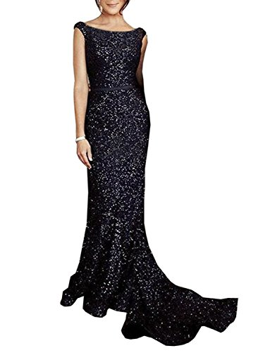 Gown Wedding Evening Prom Dress Sequined Mermaid Women's for SOLOVEDRESS Formal Green xTBfqf