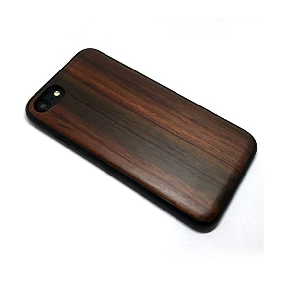 iPhone 7/iPhone 8 Case, iPhone 7 Wood case, BTHEONE Natural Genuine Wooden Case for iPhone 7 ?Real Wood Ultra Slim Hard… 2 √ Compatible with iPhone 7 (Not for iPhone7 Plus) √ Naturally wood different,each wood back has a unique grain and texture. √ Specially designed for iPhone 7, has precise design for speakers, charging ports, audio ports and buttons.