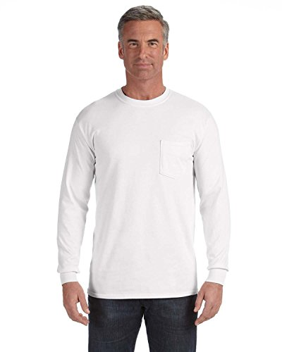 Comfort Colors Garment Dyed Heavyweight Ringspun Long Sleeve Pocket T-Shirt 4410 Comfort Colors 100% Garment