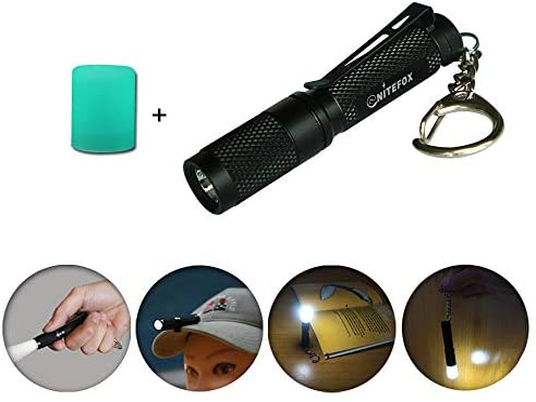 Mini Portable 3 Mode Pocket COB Worklight Light LED Flashlight Torch Keycha R7A6