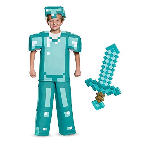 BirthdayExpress Minecraft Armor with Sword Prestige Child Costume