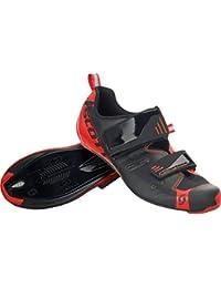 Mens Road Tri Pro Bike Shoes - 251821 (Black/Neon Red Gloss - 42