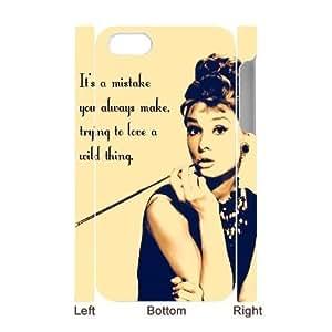 Audrey Hepburn Quotes Unique Design 3D Cover Case for iPhone 6 plus 5.5custom cover case ygtg-780 6 plus 5.593