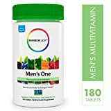 Rainbow Light - Men's One Multivitamin Non-GMO Bonus Size - Plus Superfoods, Probiotics, and Plant-Source Enzymes; Vegetarian and Gluten Free - 180 Tablets