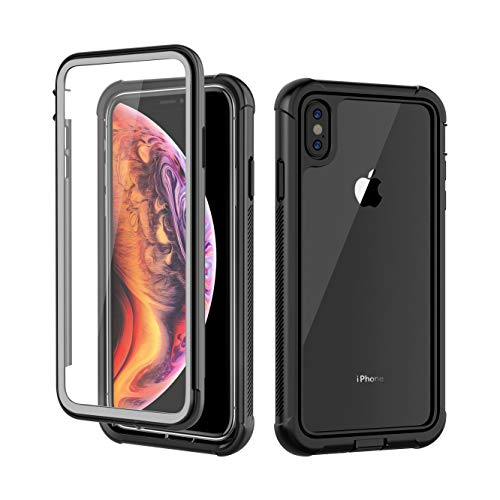 iPhone XS Max Case, AIYUE Anti-Scratch Built in Screen Protector, Full Body Protection, Wireless Charging Support, Dustproof Shock Drop Proof Rugged Durable Case for iPhone XS Max 2018 Release?Clear?