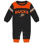 NHL Anaheim Ducks Children Boys Penalty Box Kid Long Sleeve Coverall, 6-9 Months, Black