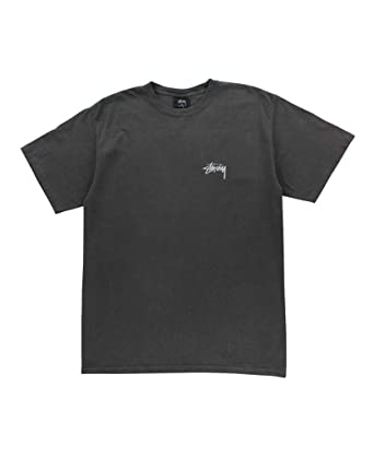 d61e7ad4 Amazon.com: Stussy - Mens Tribeman Pigment Dyed Dyed T-Shirt, Size: Small,  Color: Black: Clothing