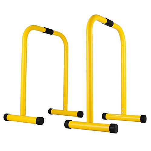 VEVOR Heavy Duty Dip Bar Stand 3000lb Multi Function Rated Dip Dipping Station with Rope for Fitness Strength Training Exercise