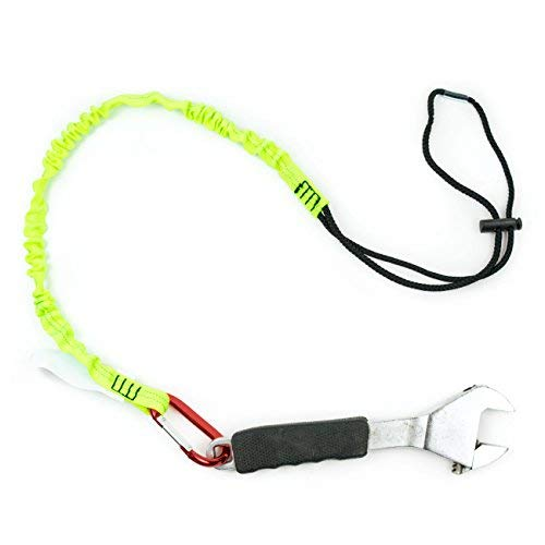 Troy Safety SPTOOL01 3ft Tool Lanyard with Single Carabiner (Pack of 3, Lime) by Troy Safety (Image #1)