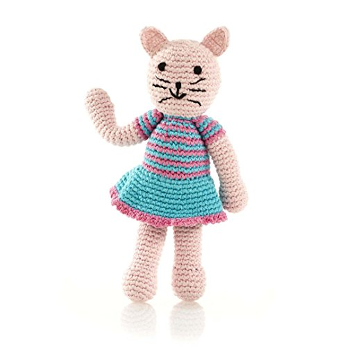 (Pebble Fair Trade, Hand Made Plush Toy - Cat Girl Rattle)