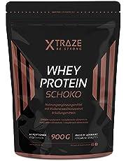 Whey Protein Powder voor Protein Shakes, 900 g Protein + Isolate met BCAA, Pure, Natuurlijk Supplement zonder Additieven, Made in Germany, voor Gewichttraining, Bodybuilding, Fitness