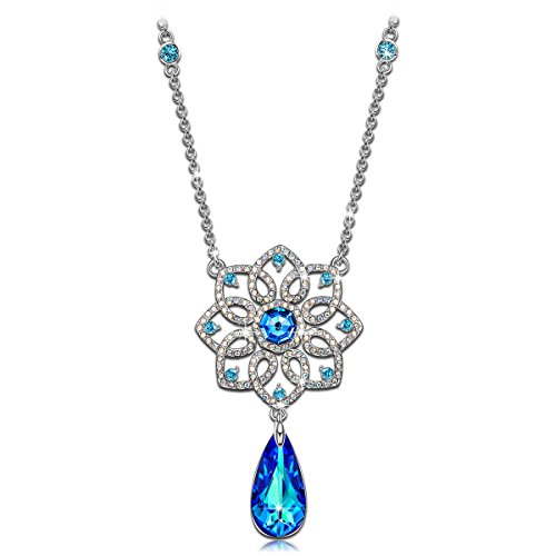 """KATE LYNN """"Waltz of the Snowflakes"""" Pendant Necklace Made with Swarovski Crystals"""
