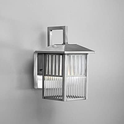 Brushed Nickel 1-light Outdoor Wall Light Fixture, Bring Light to Your Outdoor Space with This Stunning Outdoor Light Fixture. A Brushed Nickel Finish with Etched Ribbed Abd Clear Glass Completes the Design of This Outdoor Light Fixture.