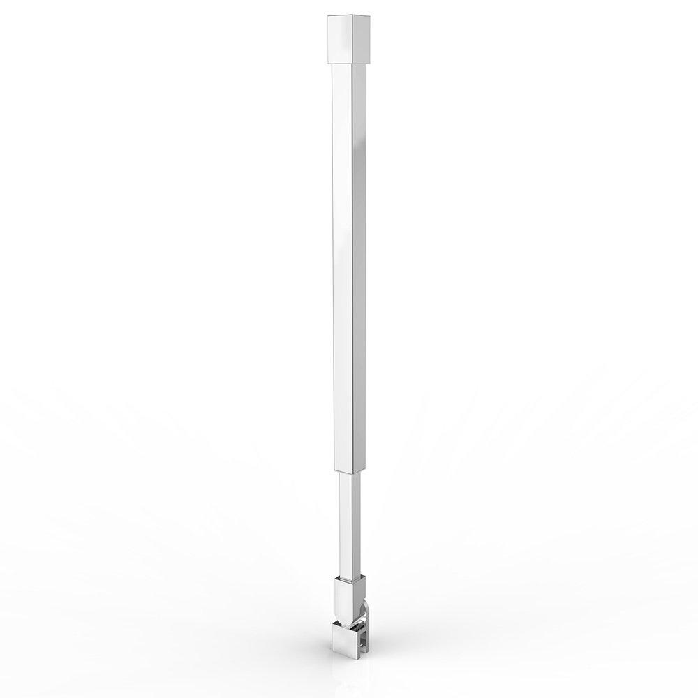 Haltestange Stabilisator Edelstahl Duschabtrennung Duschkabine Deckenmontage HS 15 Verstellbar 415-815 mm
