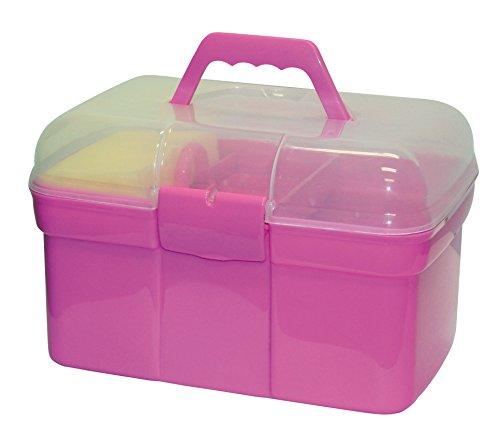 Kerbl 321766 Pferde- Putzbox befüllt für Kinder, rosa