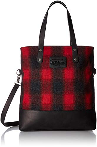 - Pendleton Women's Long Tapered Tote, red/Charcoal Mix Buffalo Check Ombre, One Size