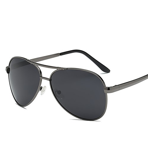 Gafas Sol UV400 polarizadas Guía Negros Gafas Gafas Sol de A1 para Sunglasses polarizadas Sol XYY705B1 de Gafas Macho de Hombres Frame de Pesca Hombres Puntos XYY705B de TL IOgxSY