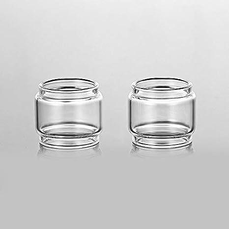 Qingtian-ceg 2 stücke Ersatz Fatboy Glas Tank für Eleaf Melo 3 Mini/ELLO Duro/I NUR S -Transparent,Frei von Tabak und Nikotin