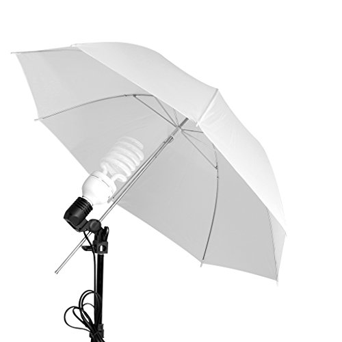 """CRAPHY 33"""" Translucent Umbrella Continuous lighting Kit with 5500k 45W Light Bulb, E27 Light Holder, Aluminum Alloy Light Stand, Portable Carrying Bag"""