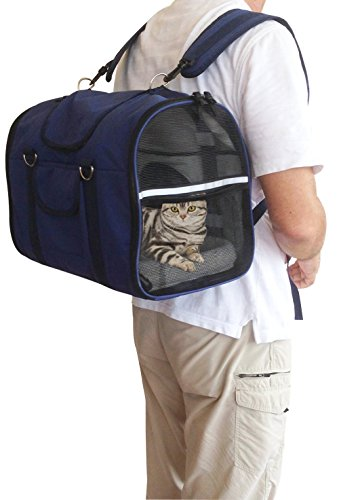 6-in1-STURDY-Airline-approved-Dog-Carrier-Backpack-Front-Pack-Pet-Car-Seat-Crate-Cat-carriers-Dog-Soft-Sided-Small-Animal-Carrier-Deluxe-Comfortable-Size-S-M-Easily-fits-under-airplane-seat
