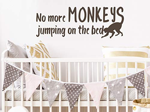 Story of Home LLC No More Monkeys Jumping On The Bed Wall Decal Nursery Wall Decal Kids Room Wall Decal Nursery Wall Sticker Kids Room Wall Sticker Vinyl Wall Decal (Ten Little Monkeys Jumping On The Bed Story)
