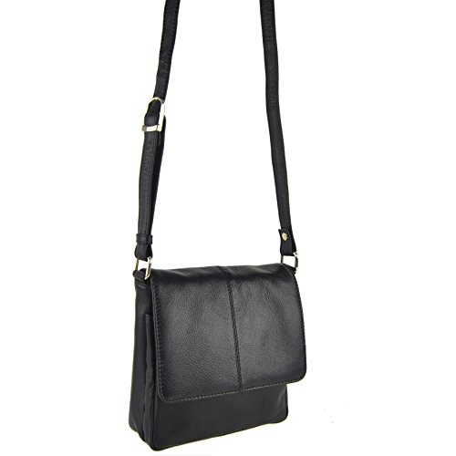 Ladies By Shoulder PrimeHide Cross Handy BAG Black LEATHER Black Small 5 Body Colours UwxraUn