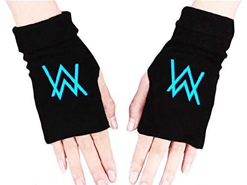 XCOSER Faded Alan Walker Glowing Gloves With Luminous Letters Painted Pattern -
