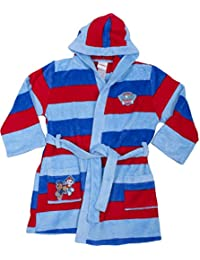 PAW Patrol Chase and Marshall Striped Robe - Toddler 2/3T Blue
