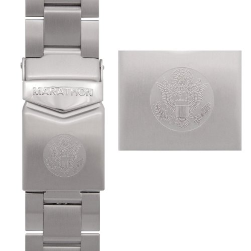 (Marathon WW005005US Stainless Steel, Military Grade Bracelet's (20mm, US Great Seal))