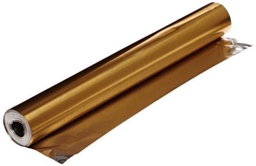 St Louis Crafts Colored Aluminum Foil - 12 Inches x 25 Feet - Gold -