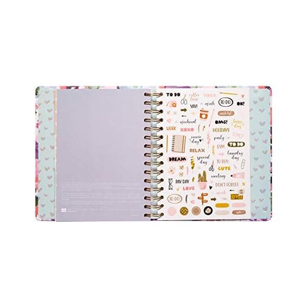 Agenda Settimanale 2021 My Master Plan, ideale per la scuola, lavoro e tempo libero, 17 mesi, 16x20 cm 4 spesavip