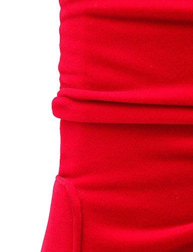 eu40 uk7 ZQ Casual black black uk7 Moda Trabajo la Robusto Mujer Negro Semicuero Botas a us9 y cn41 Oficina Rojo eu40 us9 cn41 Botas Tacón xqrPxwFTg