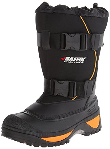 Baffin Men's Wolf Snow Boot,Black/Expedition Gold,10 M US