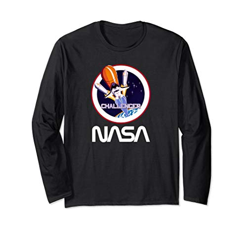 NASA Space Shuttle Challenger Crew Patch Long sleeve tshirt