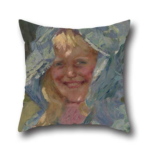 Price comparison product image Loveloveu 20 X 20 Inches / 50 By 50 Cm Smiling Little Girl 20x20 Inch Pillow Case Cushion Cases, two Sides Is Fit For Monther, boy Friend, pub, chair, coffee House, her