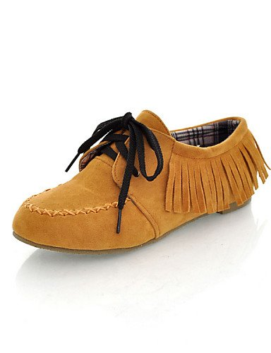 eu35 Punta Redonda de uk6 golden Casual ZQ Semicuero Marrón cn39 Zapatos mujer uk3 Gris Amarillo us8 us8 golden Tacón cn39 eu39 uk6 hug Negro Oro Rojo us5 Plano cn34 Oxfords eu39 yellow qRC0RY