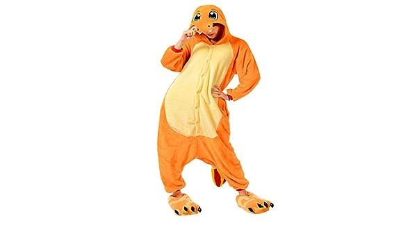 Molly Kigurumi Pijamas Unisexo Adulto Traje Disfraz Animal Adulto Animal Pyjamas M Amarillo Dragón
