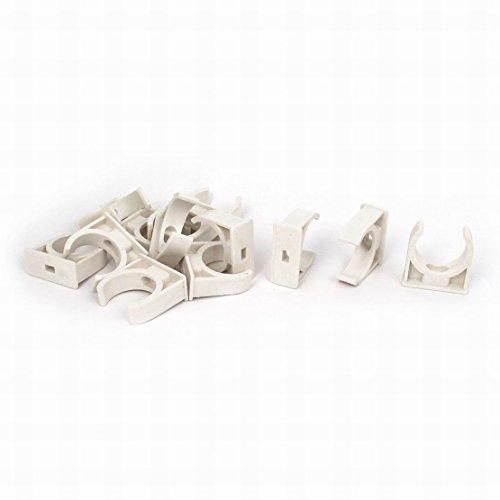 Uptell 32mm Dia Water Pipe Tube Hose Clamps Snap in Clips Fitting White 13pcs by Uptell