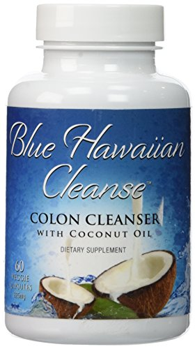 Blue Hawaiian Cleanse - Colon Cleanser with Coconut Oil - 60 vcaps | Professional Strength Formula Enhanced with Senna, Flax, Psyllium, Ginger and Black Walnut | Removes Intestinal Plaque with Mild Laxative Effect by Blue Hawaiian Cleanse