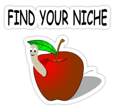 Find Your Niche! Car Motorcycle Bicycle Skateboard Laptop Luggage Vinyl Sticker Graffiti Laptop Decals Bumper Stickers by august999 -