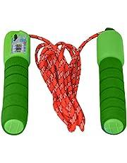 حبل نط بالعداد يد فوم - اخضر