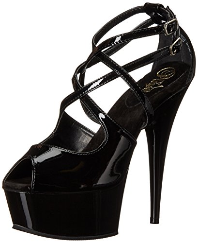 Pleaser DELIGHT-612 Blk/Blk Size UK 6 EU 39