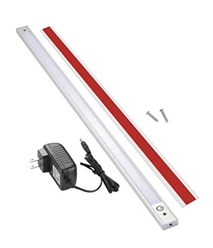 Lux-Light-Under-Cabinet-Lighting-Sensor-LED-Touch-Under-Cabinet-LED-Lights-Super-Bright-LED-Under-Counter-Lights-Silver-Chrome-Color
