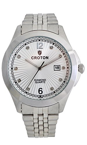 Ladies Croton Watch Diamond (Croton Men's 10 Diamond Dial Watch - CN307562SSSD)